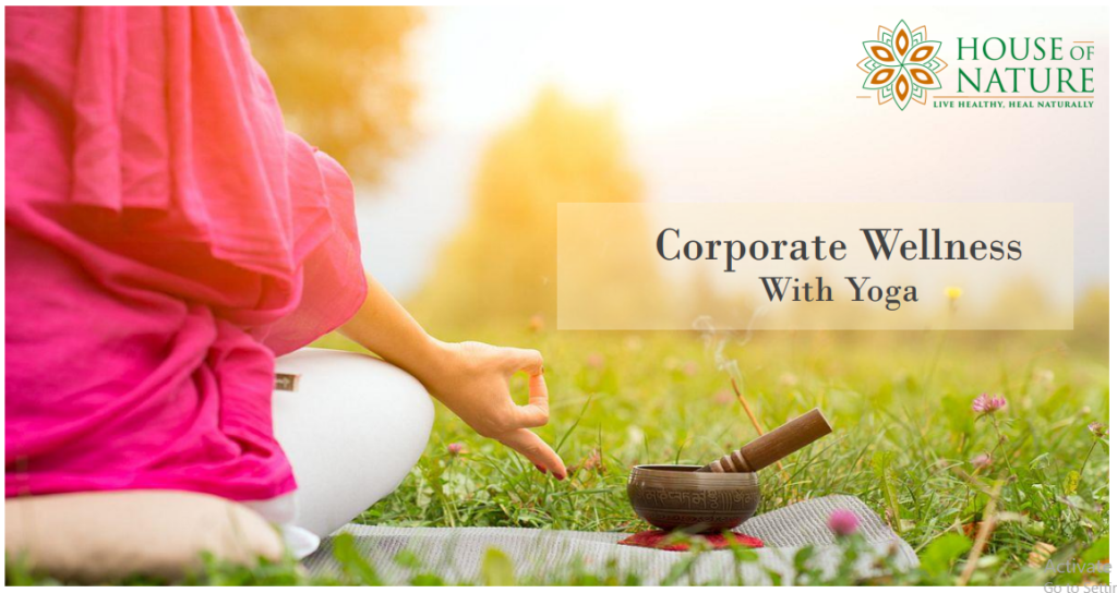 Corporate Wellness With Yoga at house of nature